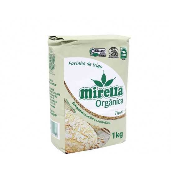 Farinha de Trigo Tipo 1 Orgânica 1kg - Mirella