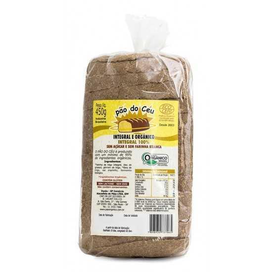 Pão 100% Integral Orgânico 450g - Pão do Céu