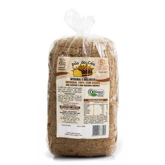 Pão 100% Integral Orgânico com Grãos 450g - Pão do Céu