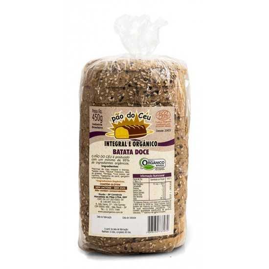 Pão Integral Orgânico Batata Doce 450g - Pão do Céu