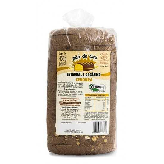 Pão Integral Orgânico Cenoura 450g - Pão do Céu