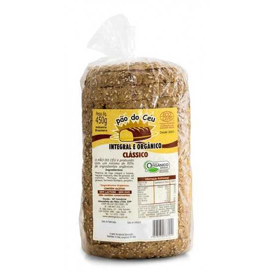 Pão Integral Orgânico Clássico 450g - Pão do Céu