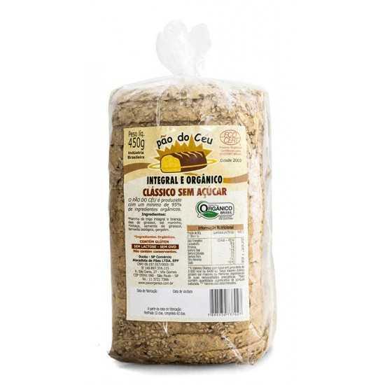 Pão Integral Orgânico sem Açúcar 450g - Pão do Céu