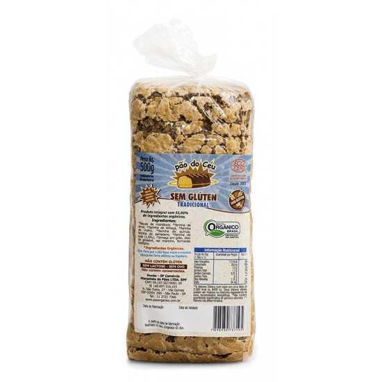 Pão Integral Orgânico Sem Glúten 450g - Pão do Céu