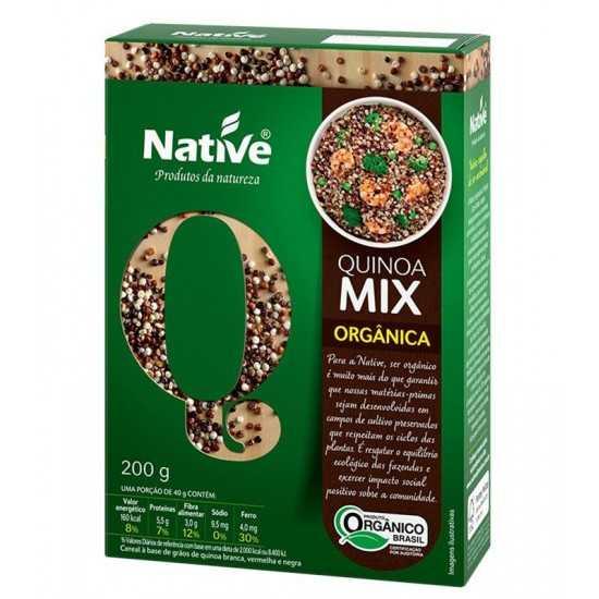 Mix Quinoa Branca e Vermelha Orgânica 200g - Native
