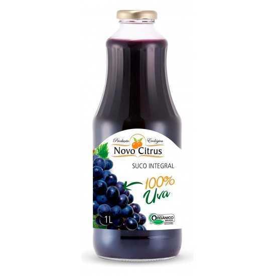 Suco Integral de Uva Orgânico 1L - Novo Citrus