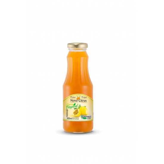 Suco Integral de Maracujá Concentrado Orgânico 300ml - Novo Citrus
