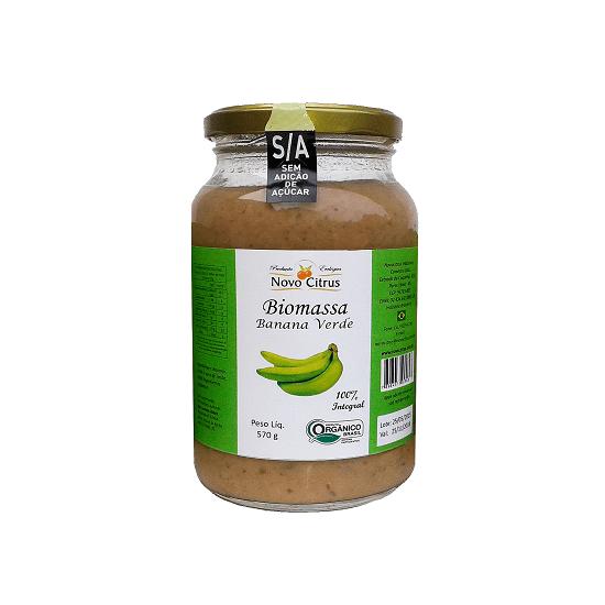 Biomassa de Banana Verde Orgânica 570 g Novo Citrus