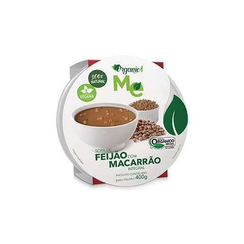 Sopa de Feijão com Macarrão Integral 400g - Organic4