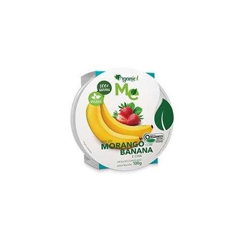 Mix de Morango com Banana e Chia 100g - Organic4