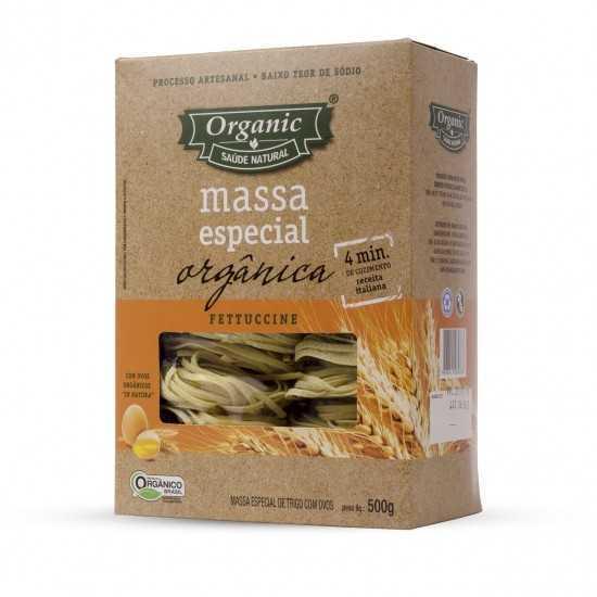 Massas Especiais Fettuccine Orgânica 500g - Organic Alimentos