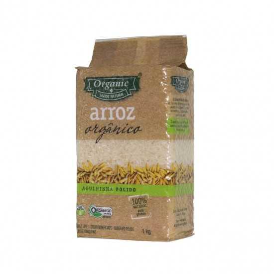 Arroz Agulhinha Polido Orgânico 1kg - Organic Alimentos