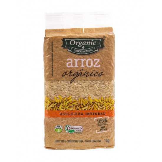 Arroz Agulinha Integral Orgânico 1kg - Organic Alimentos