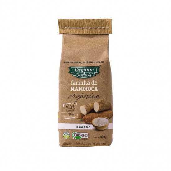 Farinha de Mandioca Branca Orgânica 500 gr - Organic Alimentos