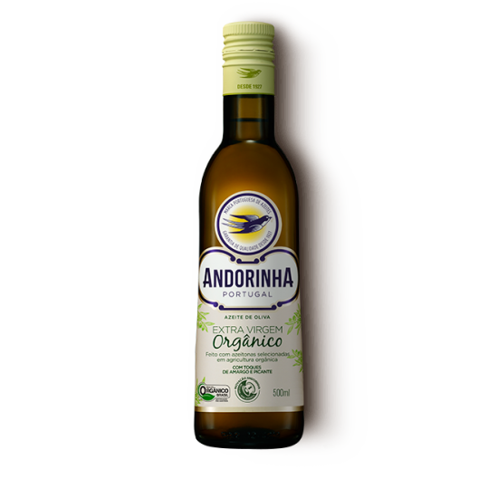 Azeite Extra Virgem Orgânico 500ml Português Andorinha - 99Organicos