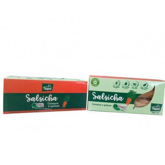 Salsicha de Cenoura e Quinoa Orgânica 200g - Tensei Orgânicos