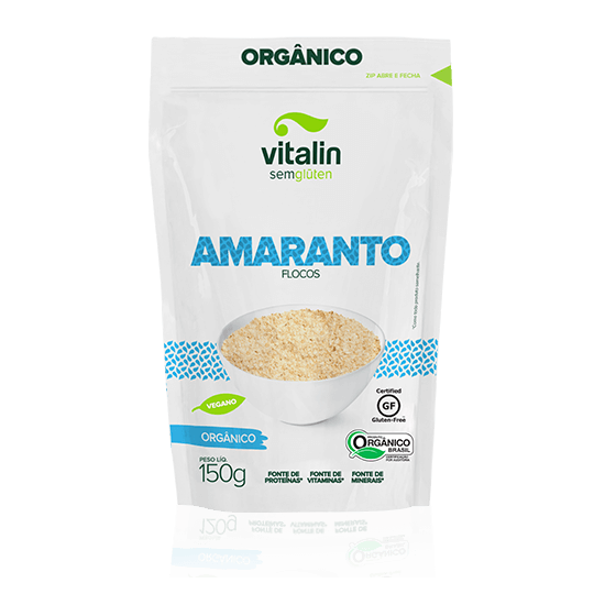 Flocos de Amaranto Orgânica 150g - Vitalin