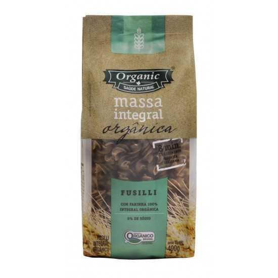 Massa macarrão Integral Fusili Orgânica 400 gr - Organic Alimentos