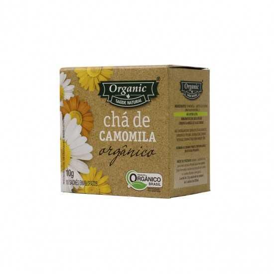 Chá de Camomila Orgânico 10g - Organic Alimentos