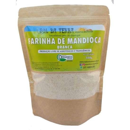 Farinha de Mandioca Branca Orgânico 500g - Sol da Terra