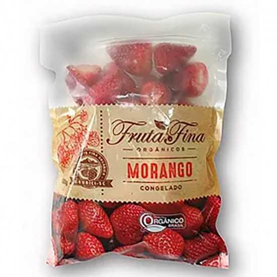 Morango Orgânico Congelado 1kg - Fruta Fina