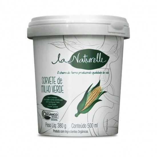 Sorvete Orgânico de Milho Verde 500 ml - La Naturelle