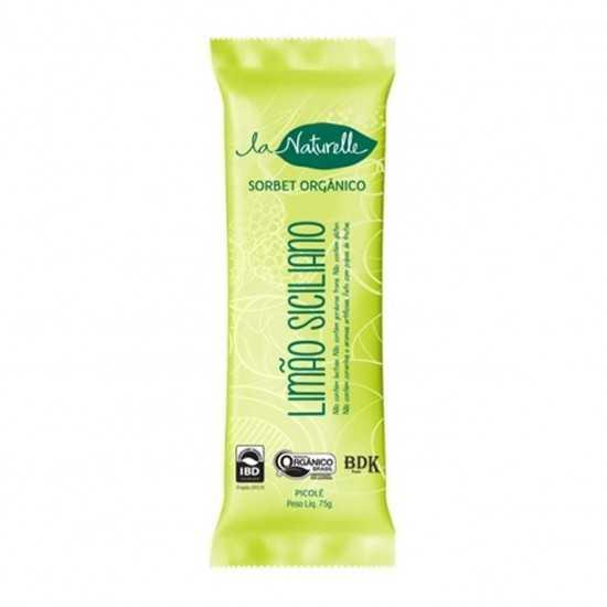 Picolé Orgânico Limão Siciliano 75 g - La Naturelle
