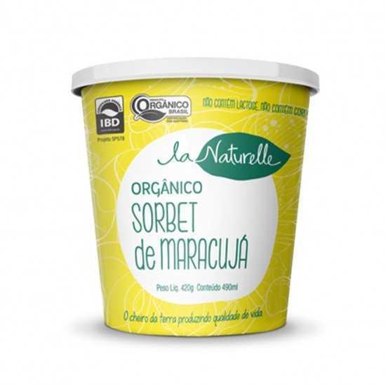 Sorbet Orgânico Maracujá 490 ml - La Naturelle