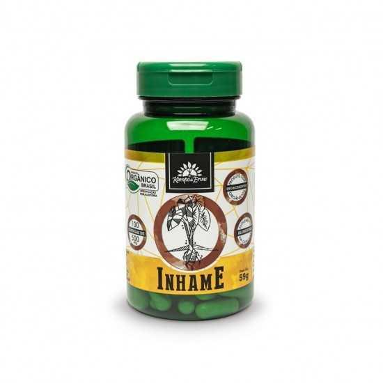 Cápsulas de Inhame Orgânico 500mg (100un) - Kampo de Ervas
