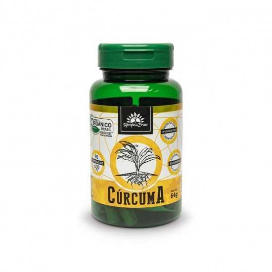 Cápsulas de Cúrcuma Orgânico 600mg (90un) - Kampo de Ervas