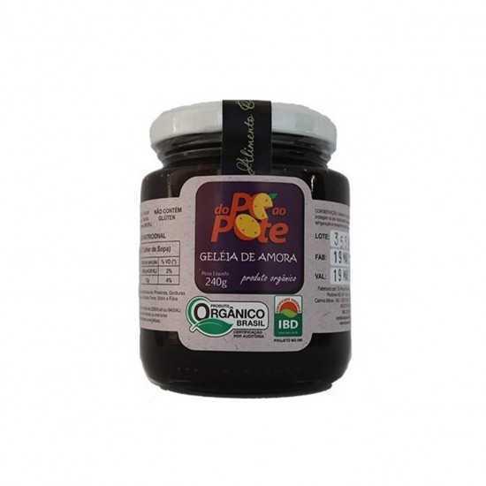 Geleia de Amora Orgânica 240g - Do Pé Ao Pote