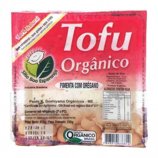 Tofu Orgânico Temperado com Pimenta e Orégano 250g - Sítio Boa Esperança