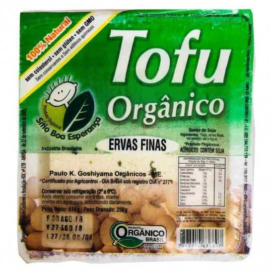 Tofu Orgânico Temperado com Ervas Finas 250g - Sítio Boa Esperança