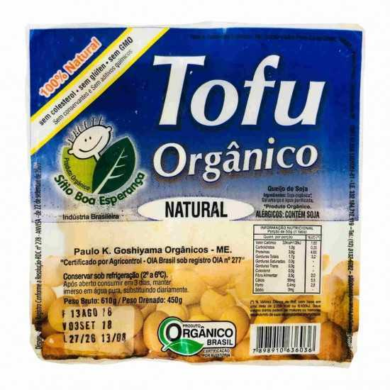 Tofu Orgânico Natural 450g - Sítio Boa Esperança