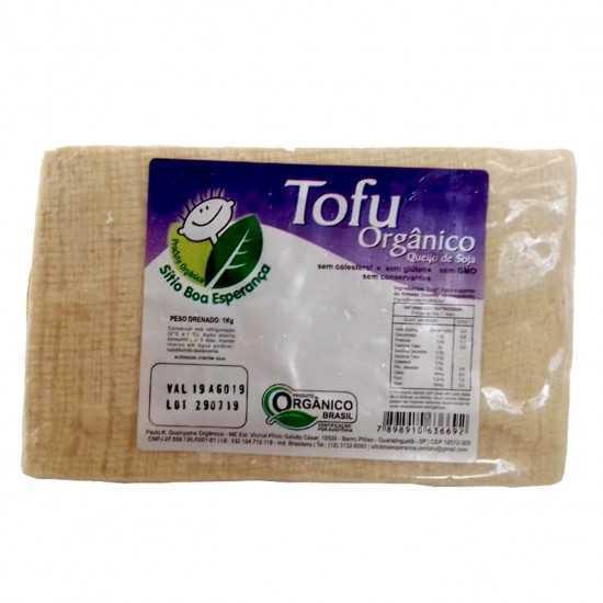 Tofu Orgânico Natural 1kg - Sítio Boa Esperança