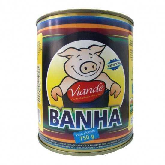 Banha de Porco Enlatada Orgânica 750g - Domaine Orgânicos
