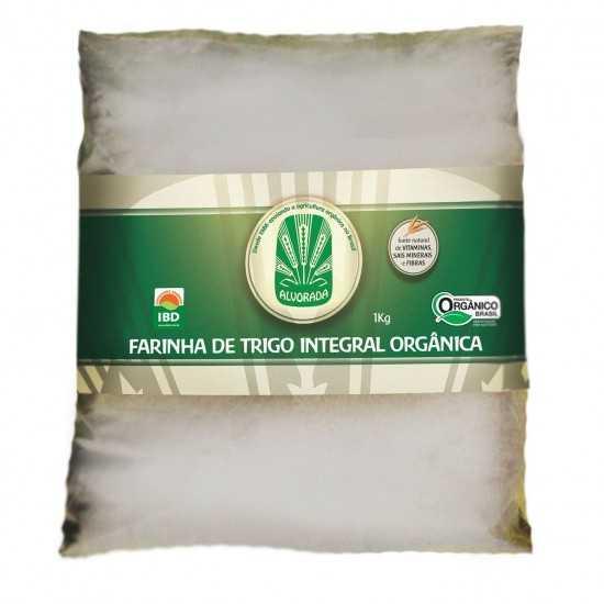 Farinha De Trigo Integral Orgânica 1Kg - Alvorada Orgânicos