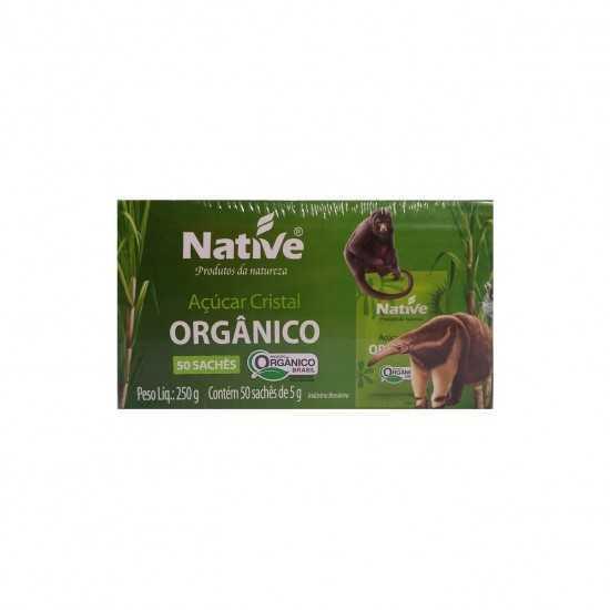 Açúcar Cristal Orgânico com 50 Sachês - Native