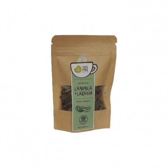 Chá de Camomila e Laranja Orgânico 15g - Terra Amor