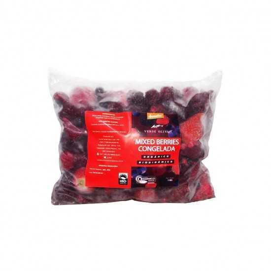Mix de Frutas Vermelhas Congelada Orgânica e Biodinâmica 1kg - Verde Oliva