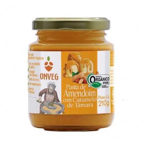 Pasta de Amendoim com Caramelo de Tâmara Orgânica 210g - Onveg