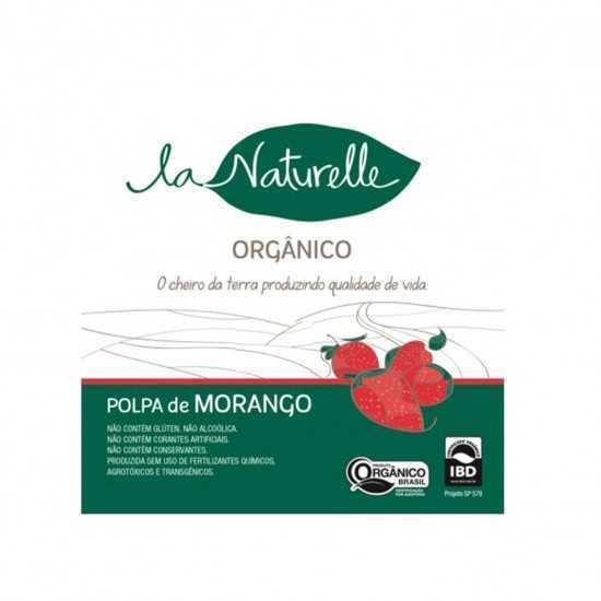 Polpa de Morango Orgânico - Un 90g - La Naturelle