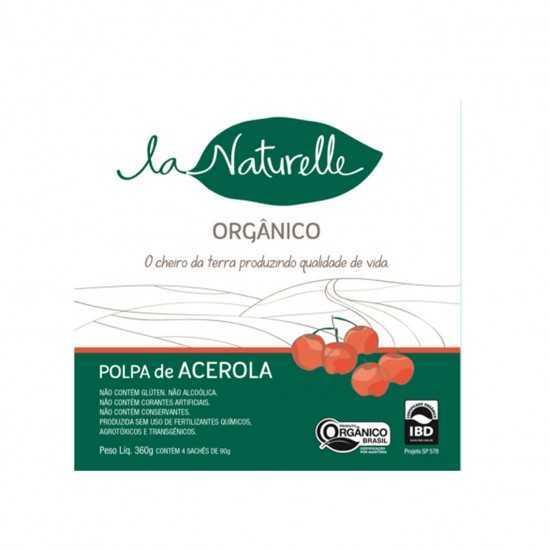Polpa de Acerola Orgânica - Un 90g - La Naturelle