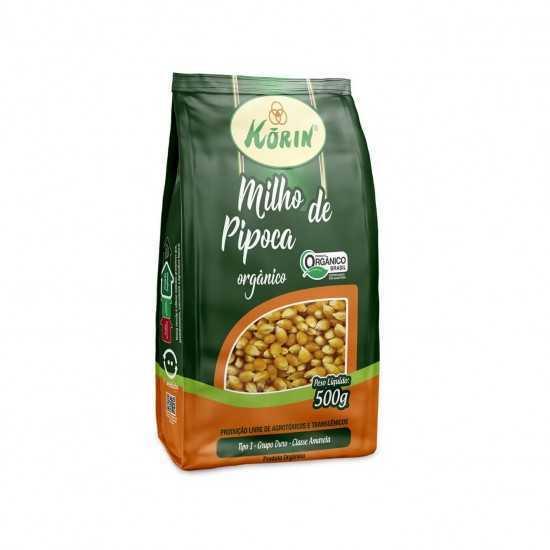 Milho de Pipoca Amarelo Orgânico 500g - Korin