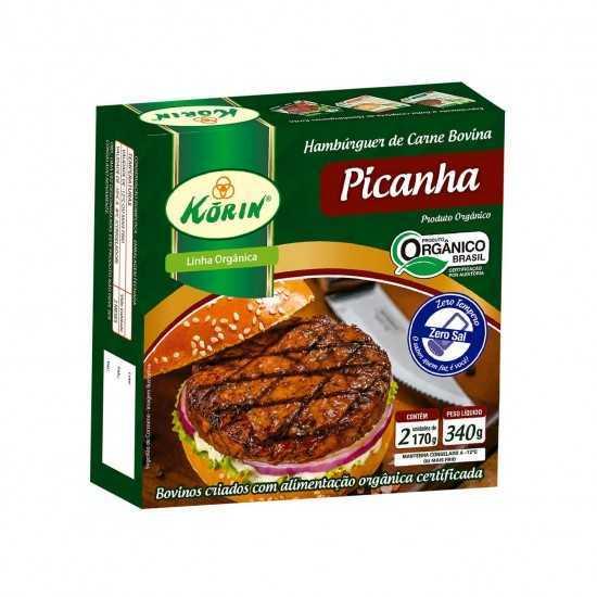 Hambúrguer Bovino de Picanha Orgânico Congelado 340g - Korin