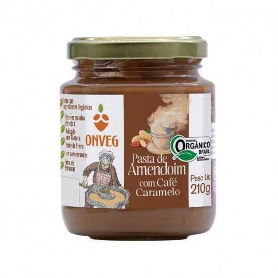 Pasta de Amendoim com Café Caramelo Orgânica 210g - Onveg