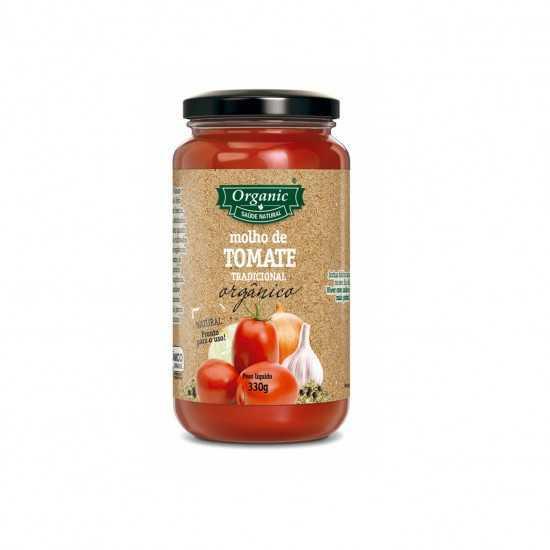 Molho de Tomate Orgânico 330g - Organic Alimentos