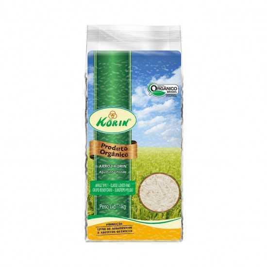Arroz Agulhinha Polido Orgânico 1kg - Korin