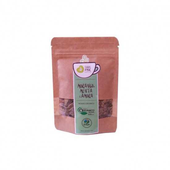 Chá de Morango, Menta e Amora Orgânico 15g - Terra Amor