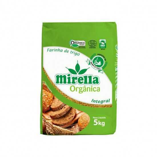 Farinha de Trigo Integral Orgânica 5kg - Mirella